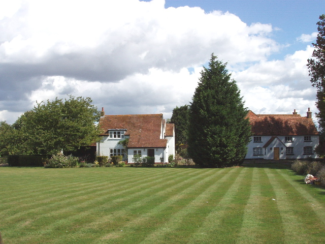 Houses on the green at Owlswick