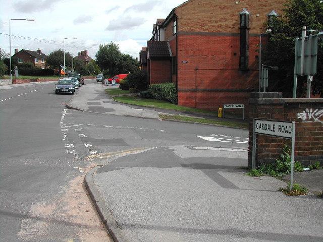 Junction Douglas Ave/ Oakdale Road, Carlton, Nottingham