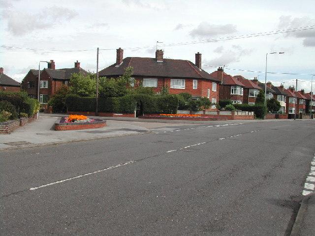 Junction Southdale Road/ Oakdale Road, Carlton, Nottingham