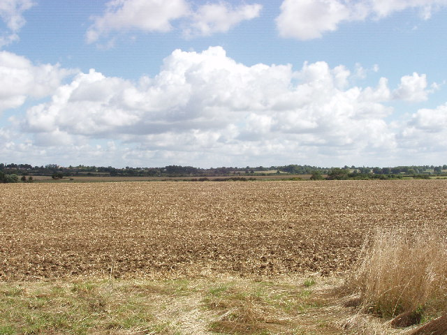 Ploughed field near Dinton