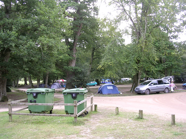 Northern end of Hollands Wood camp site, New Forest
