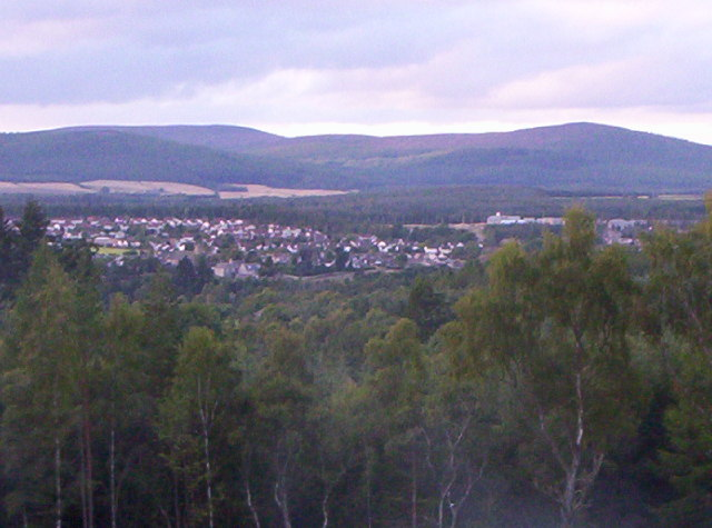 View Of East End Of Banchory From Tilquhillie Woods