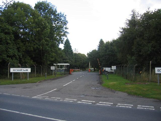 Vehicle Proving ground entrance