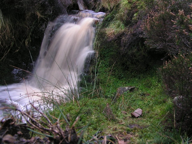Moorland waterfall