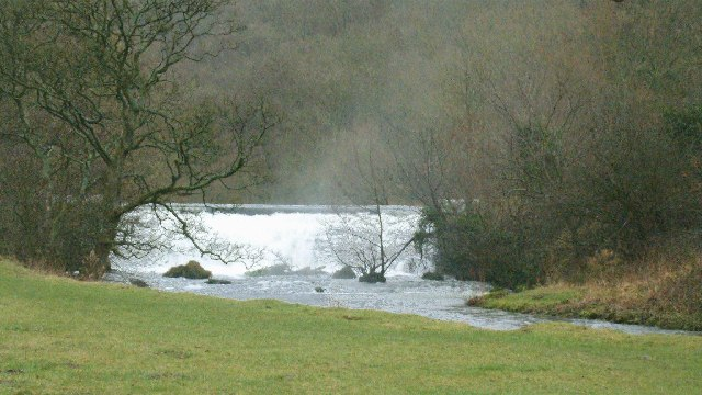 Weir on the River Wye in Monsal Dale