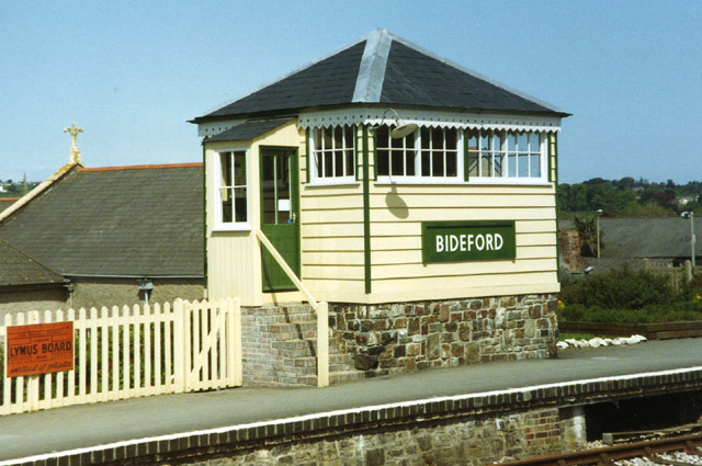 Bideford: signalbox at Bideford Station