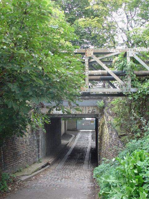 Tunnel below the railway line in Twickenham