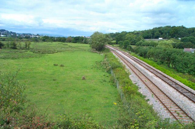 Railway line near Aller