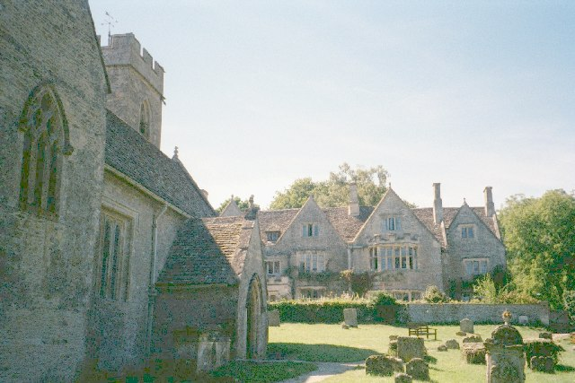 Manor house and St Nicholas Church, Asthall