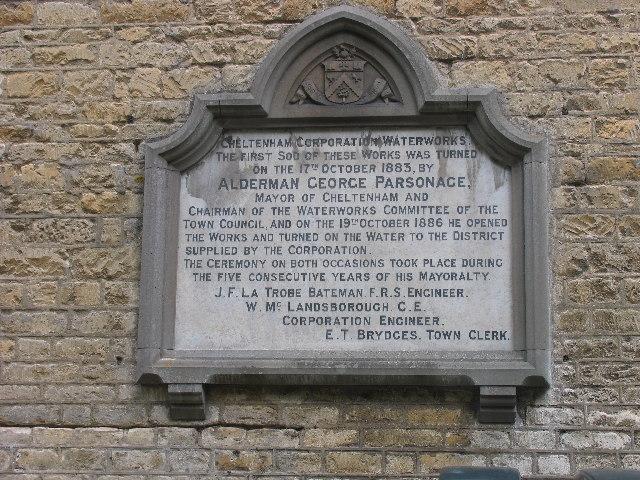 Dowdeswell Reservoir commemorative plaque