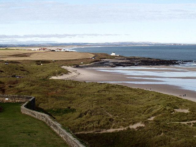 Bamburgh coastal view