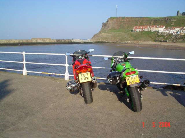 Bikes at Whitby Harbour