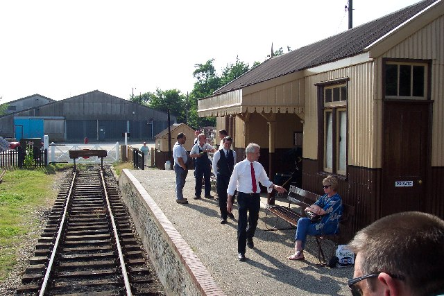 The recreated Brockford station