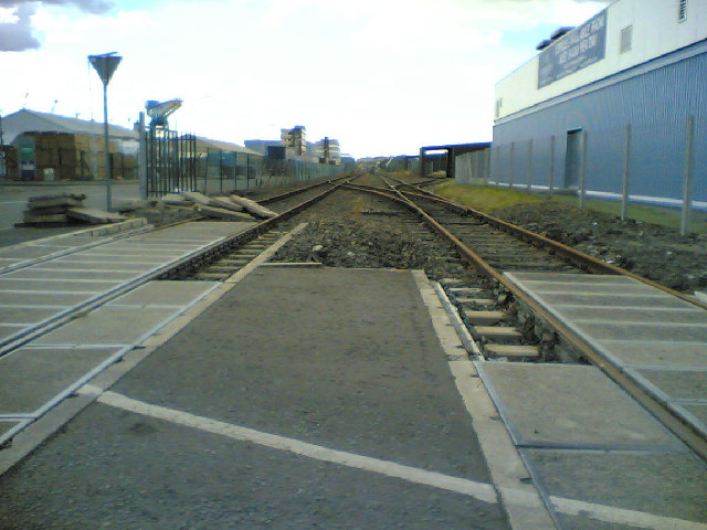 Railway lines at docklands
