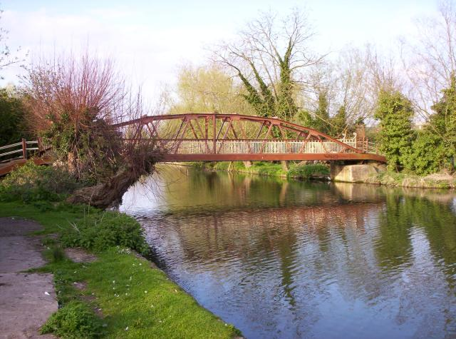 Pedestrian bridge across the Cam, Cambridge