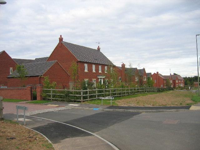 New housing, Westwood Heath Road