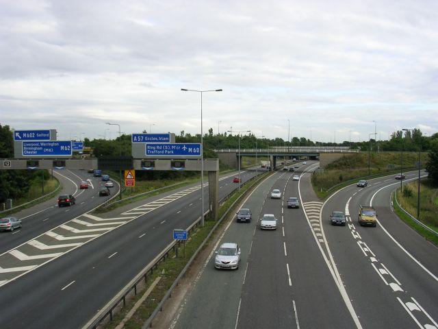 Eccles Interchange, J12 , M60