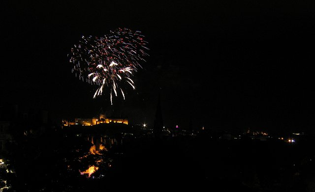 Fireworks, Edinburgh Castle.