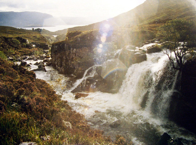 Waterfalls between Liathach and Beinn Alligin