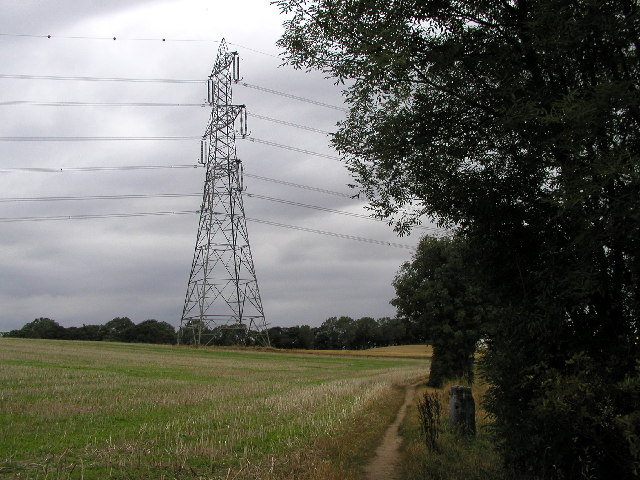 Power Lines near footpath