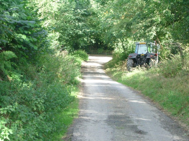 The lane between Cadwell and Upper Kinsham