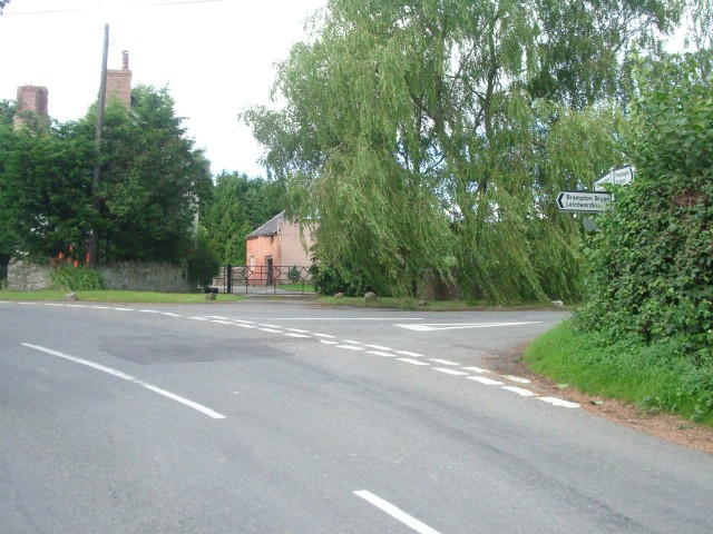 Road junction at the centre of Lingen