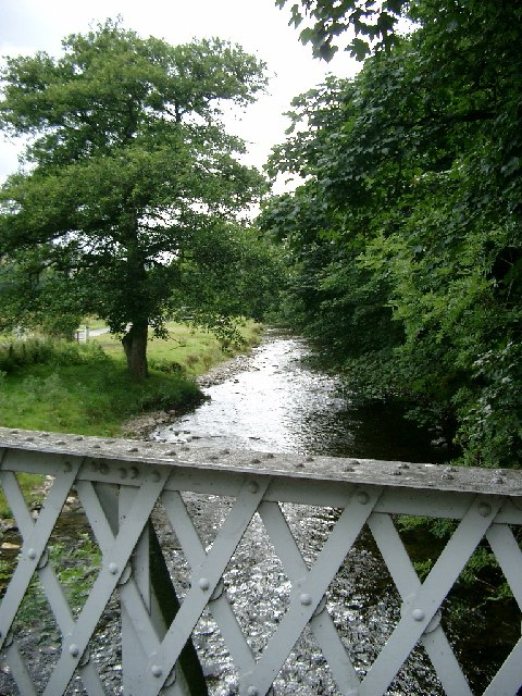 Steel bridge over the Manor Water