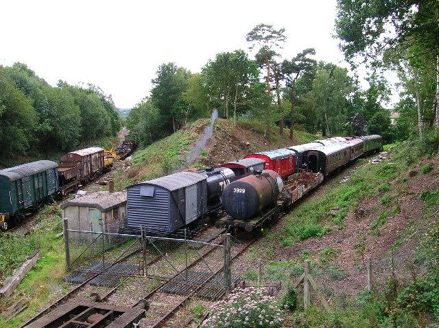 Storing railway stock, Groombridge.