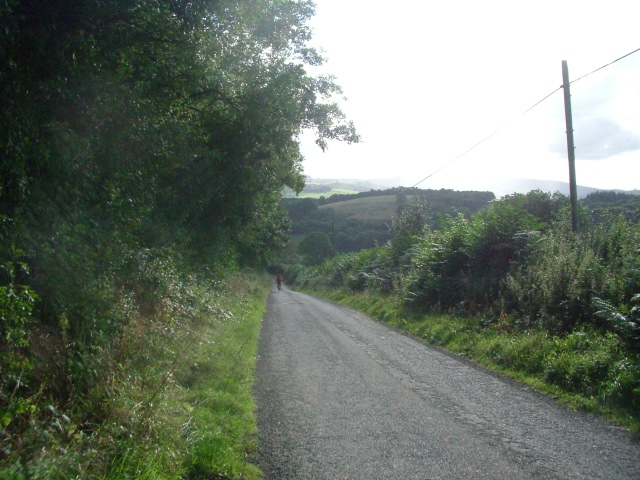 The lane between Stapleton Hill and Stapleton