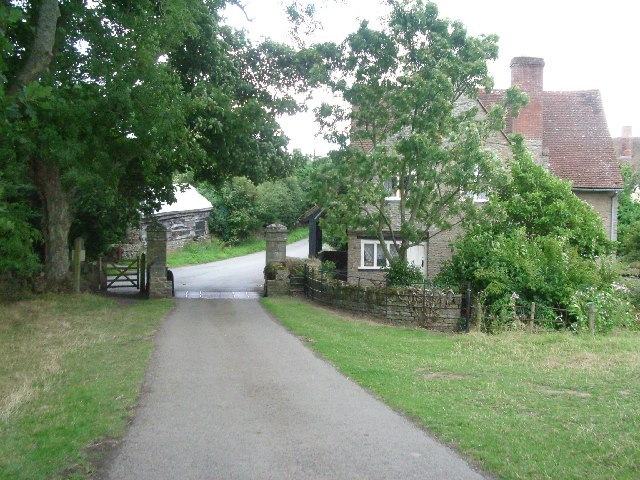 Cock Gate, the main entrance to Croft Castle