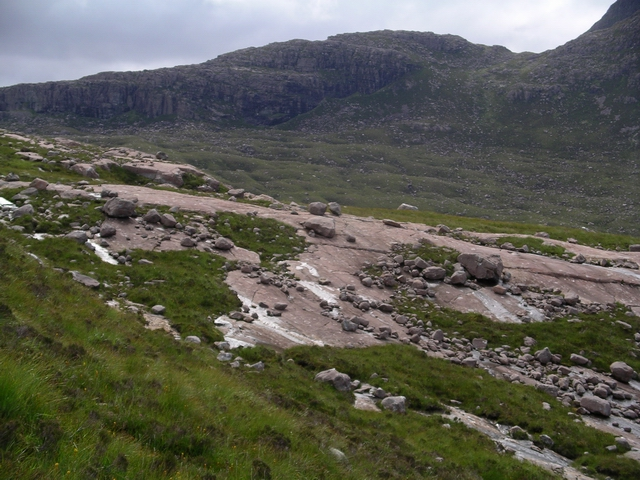 Glaciated slabs, Coire Roill