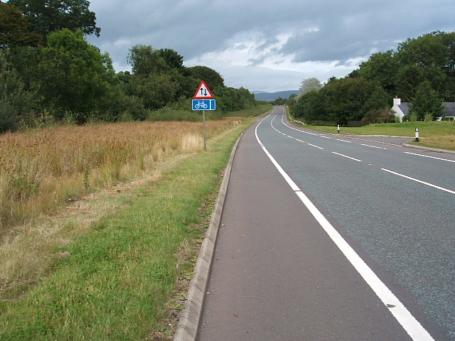 Cycle track running between Lockerbie and Moffat
