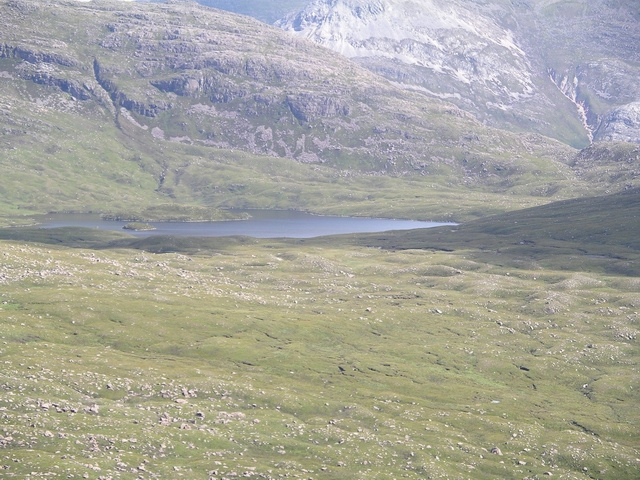 Watershed, head of Strath a' Bhathaich