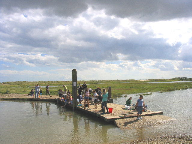 """Crabbing"" at Walberswick, Suffolk"