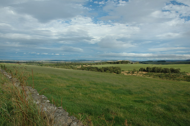 View eastwards towards Monymusk