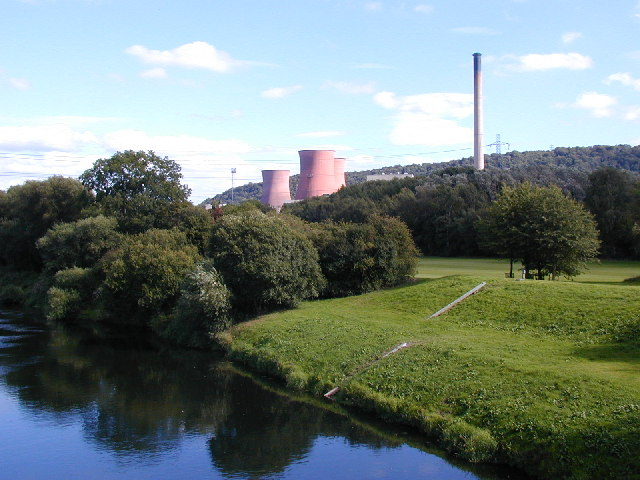 Buildwas coal-fired power station and River Severn