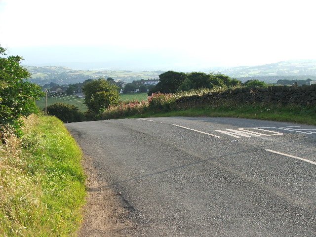 Road near Emley Moor mast