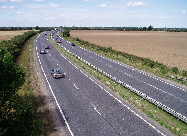 The A14 near Fen Ditton