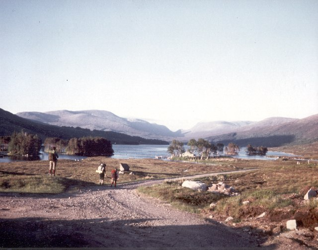 Loch Ossian and Ossian Youth Hostel