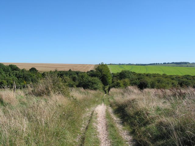 Valley between Twyford Down and Hazeley Down