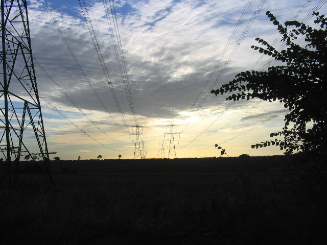 National Grid Pylons, Bredfield, Suffolk
