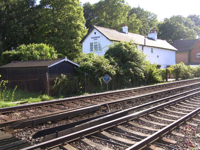 Railway cottages at Woodfidley  Crossing, New Forest
