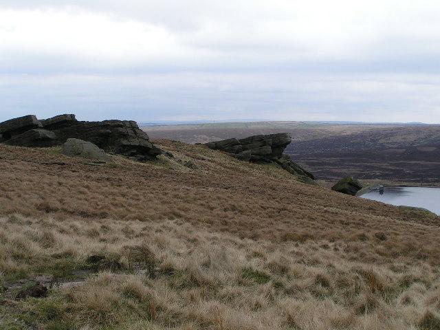Rocks above Gorple Upper Reservoir