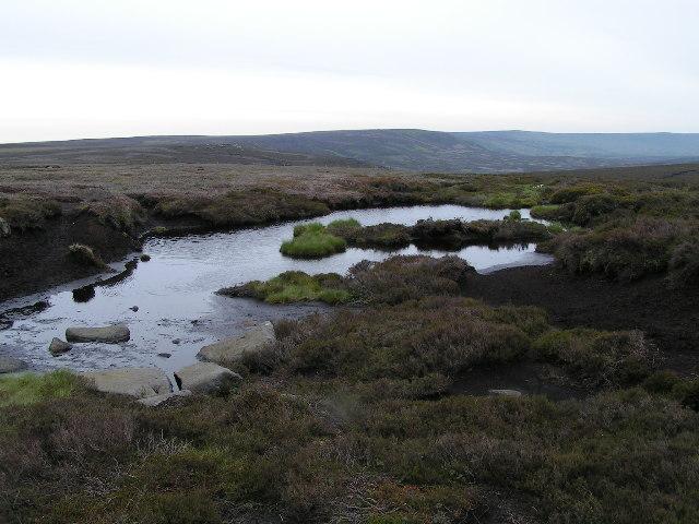 Moorland pool above Swains Head