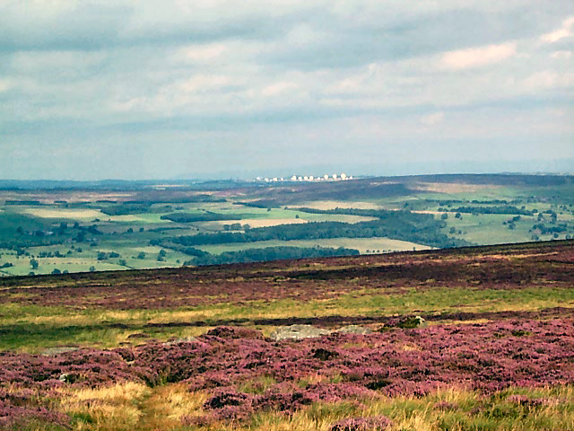 Menwith Hill from Ilkley Moor