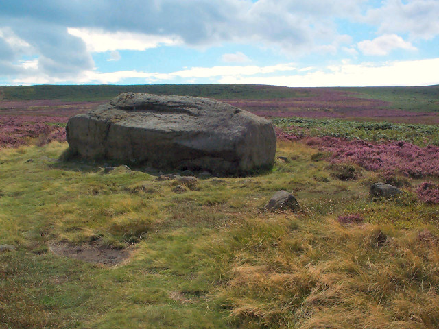 Cup & Ring marked rock, Ilkley Moor