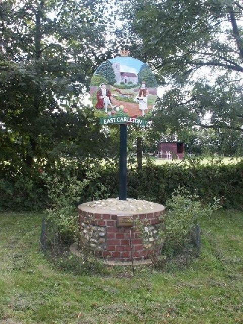 Village sign, East Carleton