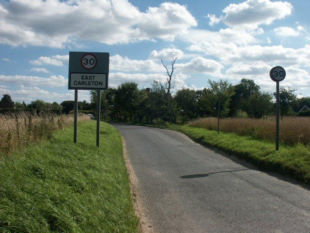 Entrance to village, East Carleton