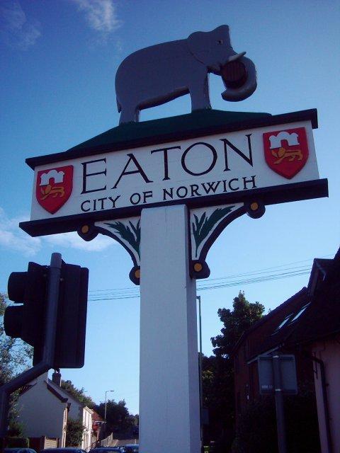 Village sign, Eaton