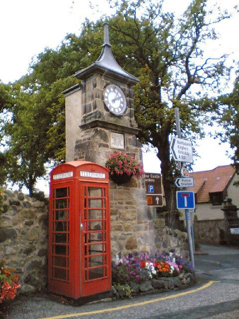 Village Clock. Aberdour, Fife